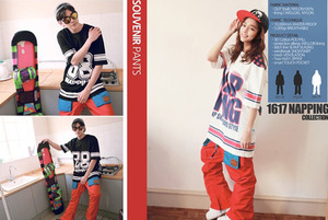 [NApPING]Souvenir Pants6 (수버니어6-red/blue)